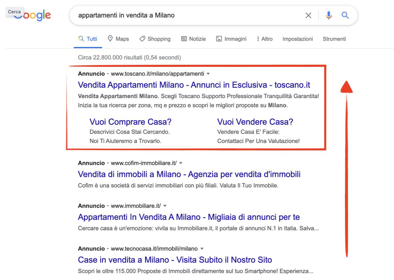 esempio annuncio google ads